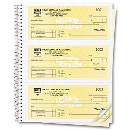 Amazoncom Customized Receipt Books Office Products - Personalized invoice books