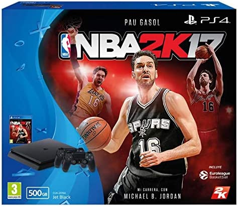 PS4 SLIM NUEVA CONSOLA 500GB + NBA2K17 (juego físico) + DOS MANDOS ...