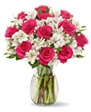 #4: Benchmark Bouquets Signature Roses and Alstroemeria, With Vase