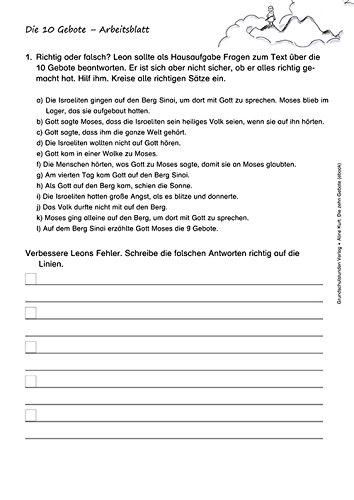 Charmant Zehn Gebote Arbeitsblatt Galerie - Mathe Arbeitsblatt ...