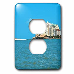 3dRose lsp_52448_6 Marco Island Resort Florida Everglades 2 Plug Outlet Cover