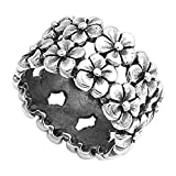 Sterling Silver Women's Plumeria Flower Eternity Ring Cute 925 Band Size 6 (RNG13820-6)