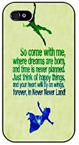 Walt Disney Quotes - So come with me where dreams are born and time is never planned - iPhone 5C black plastic case / Inspiration by icecream design