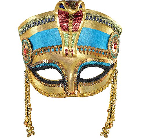 AMSCAN Egyptian Masquerade Mask Halloween Costume Accessories, One Size -
