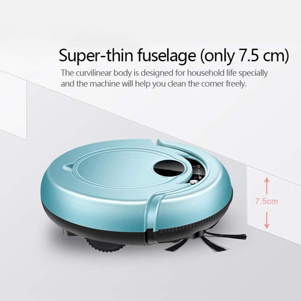 ASIAKK Aspirateur Robot S320, aspirateur Puissant 1200Pa, Système de Nettoyage en 3 Étapes, Ultra-Mince 2.95 Pouces, de Protection Anti-Chute Les Nouvelles Fonctions,Bleu Blue