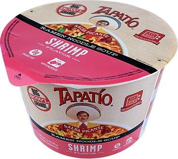 (Tapatio Ramen Noodle Soup Big Bowl 105g , Shrimp Flavor (Bulk Case of 6))