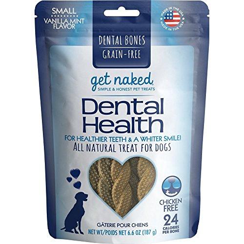 Get Naked Grain-Free Small Dental Chew Bone 6.6Oz Bag