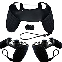 Sony Playstation 4 PS4 Controller Silicone Case Skin with 2 Joystick Skin Caps