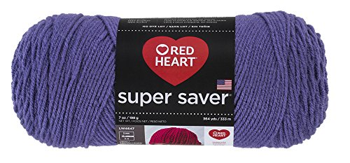 RED HEARTSuper Saver Yarn, Lavender (Crochet Lavender)