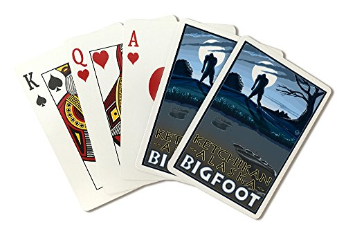 Ketchikan, Alaska - Bigfoot (Playing Card Deck - 52 Card Poker Size with Jokers)