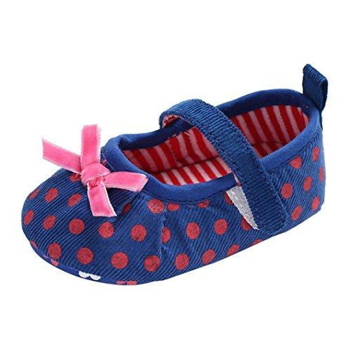 cinnamou Babyschuhe Baby Mädchen Jungen Soft Sole Schuhe Sneakers Casual Süße Leopard Anti-Rutsch-Babyschuhe Krippeschuhe Strandschuh (6-12 Monate, Rose) Blau
