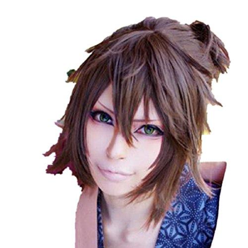 [Hakuouki Okita Souji cosplay costume Long wig] (Okita Souji Cosplay Costume)
