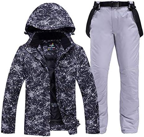 LilyAngel メンズや女性のスノーウェアスノーボードは防水防風透湿性アウトドアスポーツスキースーツのジャケットとベルトパンツを設定します。 (色 : 15, サイズ : XXL)