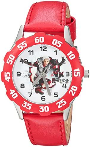 Disney Boy's 'Descendants 2' Quartz Stainless Steel Casual Watch, Color:Red (Model: WDS000251)