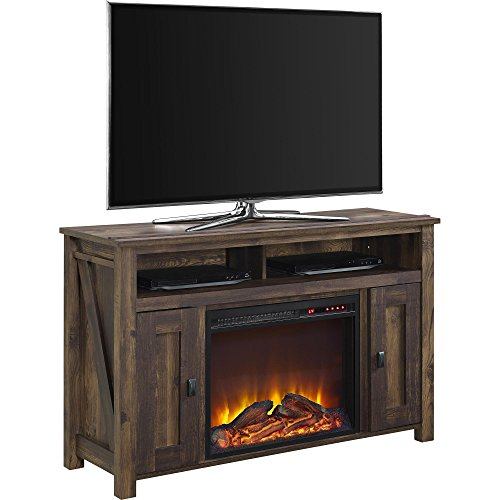 Ameriwood Home Farmington Electric Fireplace TV Console for TVs up to 50, Rustic