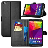 KuGi Blu Studio 7.0 LTE case - High quality ultra-thin MX style PU Cover +TPU Back Wallet stand Case For Blu Studio 7.0 LTE (Black)