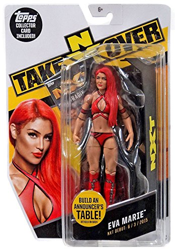 WWE NXT Takeover Eva Marie Action Figure w/Topps Collectors Card by Wrestling