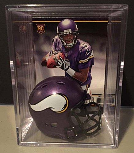 Minnesota Vikings NFL Draft Helmet Shadowbox w/ Teddy Bridgewater card