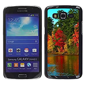 LECELL -- Funda protectora / Cubierta / Piel For Samsung Galaxy Grand 2 SM-G7102 SM-G7105 -- Nature Beautiful Forrest Green 79 --