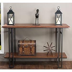 Amazon Com Baxton Studio Newcastle Wood And Metal Console Table
