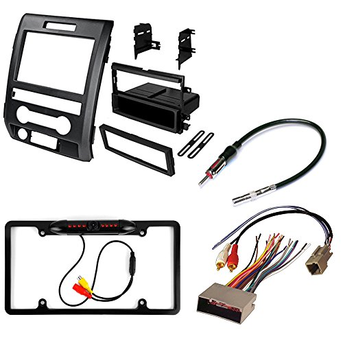 Ford F-150 2009 2010 2011 2012 AFTERMARKET CAR Stereo Install KIT Dash MOUNTING KIT + Radio Harness+ Antenna Adapter+ Rear View Night Vision Camera -