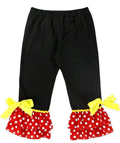 Toddler Little Girls I Am Going to Disney Land Minnie Mouse Head Capri Set 12-18M by Angeline (Image #1)