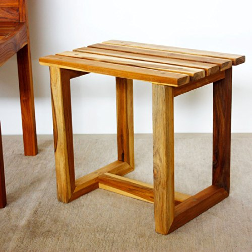 Haussmann TSST121816-Teo Teak Spa Stool (Teak Thailand Furniture)
