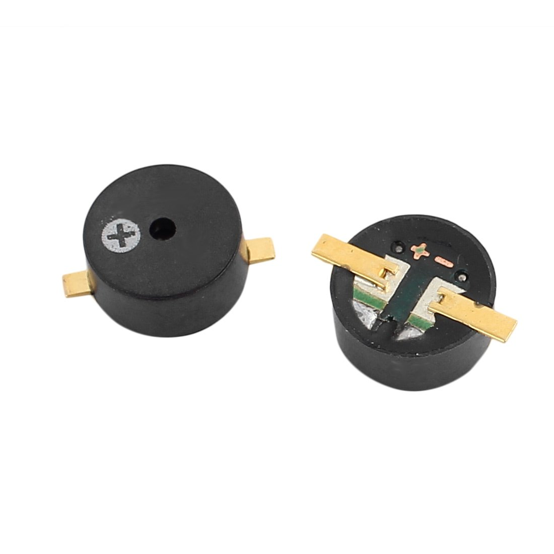 Aexit 2Pcs DC Security & Surveillance 4-6V 9mm x 4mm SMD Electromagnetic Passive Horns & Sirens Buzzer Black