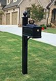 Williamsburg Estate Mailbox System (Contemporary Post - Black)