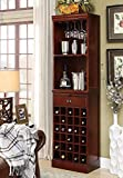 Product review for Coaster Lambert Traditional Wine Wall Bar Unit in Cherry (Each unit sold separately - 3 units pictured).