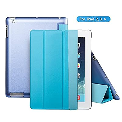 iPad 2 case,iPad 3 case,iPad 4 case,Ants Tech Smart Wake-up and Sleep Function Stand Pedestal Screen Cover for Apple iPad 2 3 4 with Retina Display