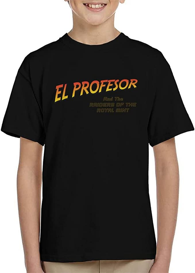 La Casa De Papel El Profesor Raiders of The Lost Mint Indiana Jones Kids T-Shirt: Amazon.es: Ropa y accesorios