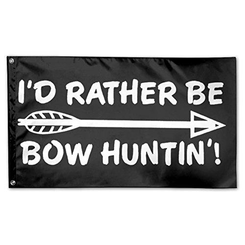 UDSNIS I'd Rather Be Hunting Garden Flag 3 X 5 Flag For Outd