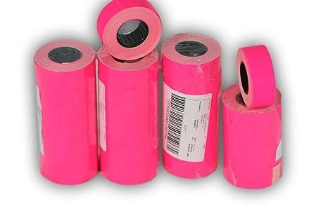 Rotoli Di Carta Colorata : Rotoli rosa mm etichette di carta colorata sticker