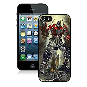 New DIY Personalized Transformers Optimus Prime 3 iPhone 5 5s 5th Generation Black Phone Case CR-660