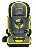 KidsEmbrace Batman Car Seat Booster, DC Comics High Back Seat, Removable Back, Gray