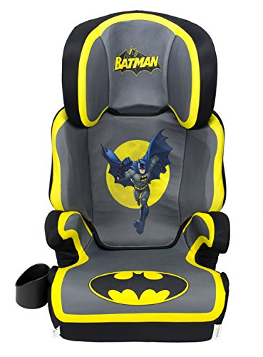 KidsEmbrace Batman Car Seat Booster, DC Comics High Back Seat, Removable Back, Gray, 4601BAT
