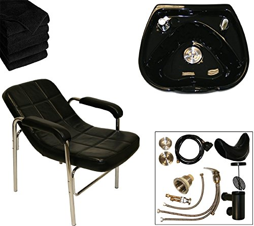 (LCL Beauty Shampoo Package: Comfort-Curve Slingback Shampoo Chair & Heart Shaped Ceramic Shampoo Bowl)