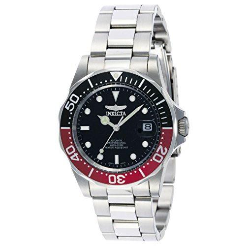 Men's Stainless Steel Pro Diver Black Dial Automatic by Invicta