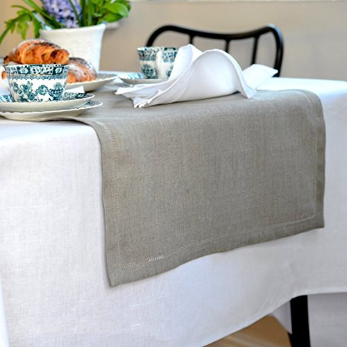 Perfect linen cotton runner da tavolo elegante rustico - Runner tavolo ikea ...