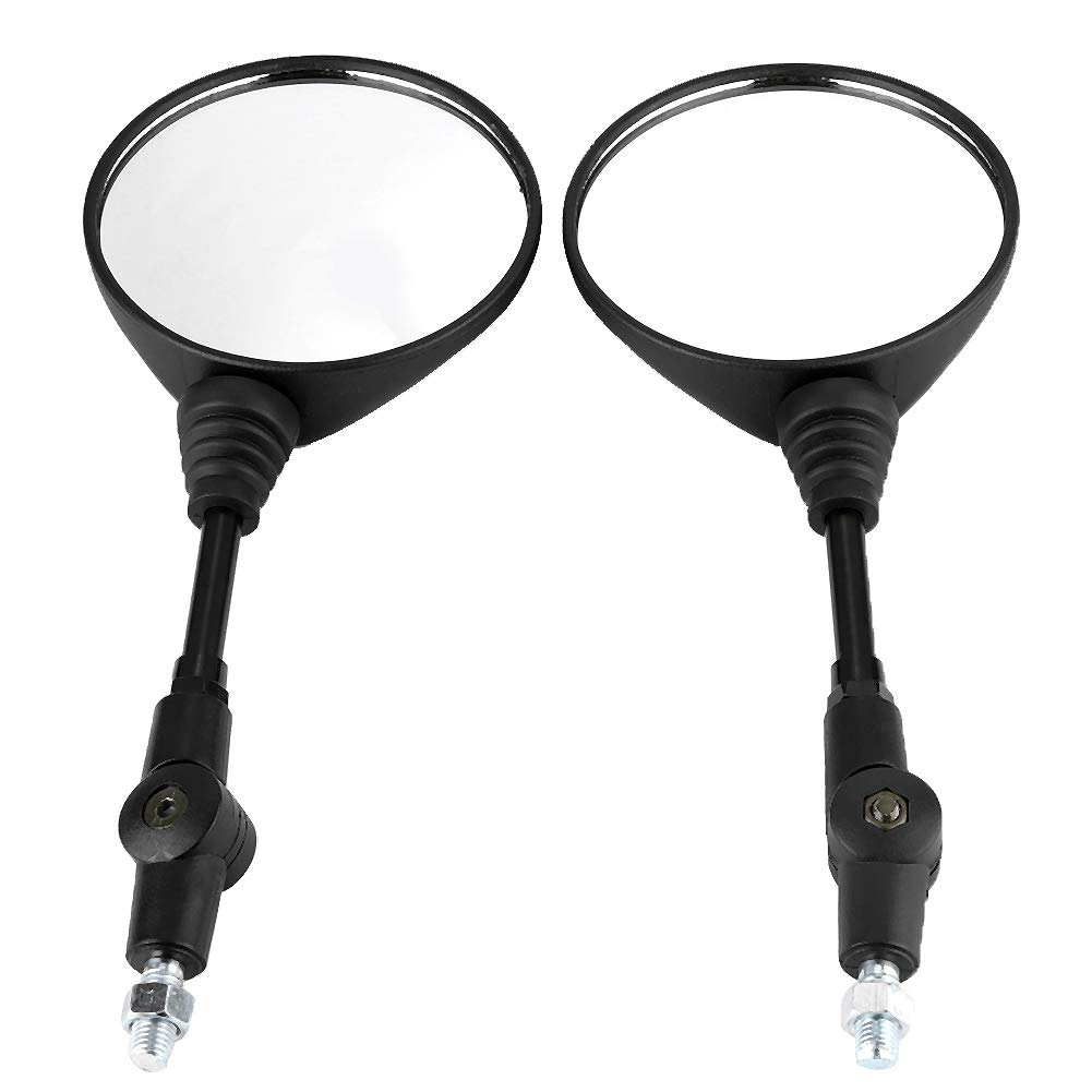 Akozon Motorcycle Rearview Mirror 2Pcs Motorcycle Modified Folding Rearview Mirror Round Side Mirrors for KLX250 KL250