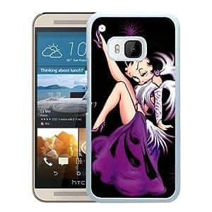 Newest M9 Case,Betty Boop Purple Dress 1 White High Quality Hot Sale HTC ONE M9 Phone Case