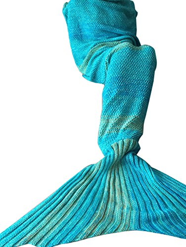 [YiZYiF Mermaid Tail Blanket Knitted Sleeping Bag Cocoon Costume For Kids Adult] (Bag Lady Halloween Costume)
