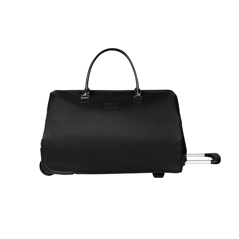 Lipault Lady Plume Wheeled Weekend Bag, Rolling Duffel Bag in Black