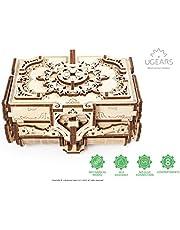 UGEARS Antik-Schatulle 3D Modellbausatz Holztruhe-3D Holzbausatz Schatzkiste-3D Puzzle Erwachsene Box