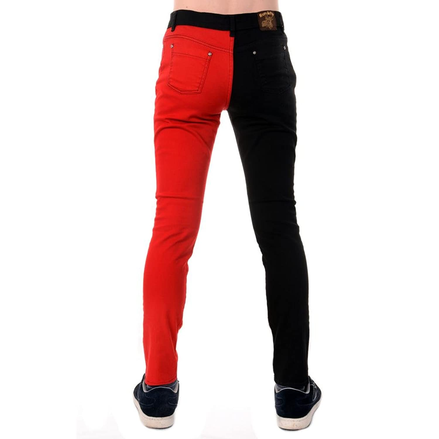 Shop for men's skinny jeans at ASOS. Our skinny jeans for men are perfect for the fashion forward denim enthusiast. Add some cool to your wardrobe. New Look skinny jeans with red side stripe in blue wash. $ boohooMAN super skinny ripped jeans with stud detail in black wash. $