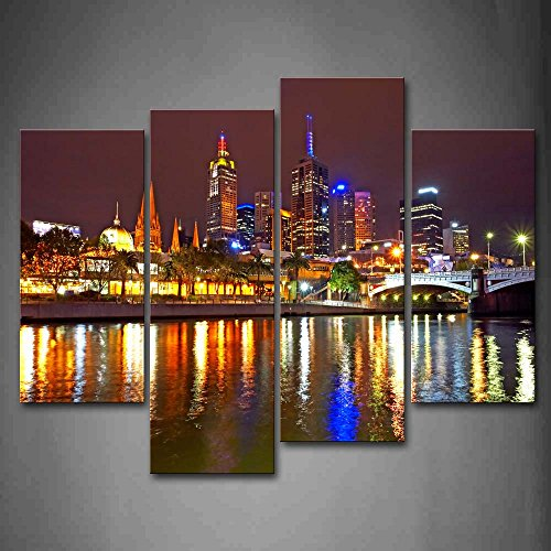 First Wall Art - Melbourne City Is Very Busy Wall Art Painting The Picture Print On Canvas City Pictures For Home Decor Decoration - Gate Frames Melbourne