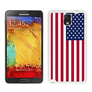 Coolest Samsung Galaxy Note 3 TPU Case in White USA Flag Soft Silicone Note III Covers