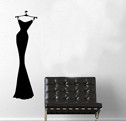 Cheap  Sexy Black Dress Wall Decal Home Decor Closet Bedroom Dressing Room Gift..