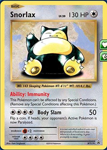 Snorlax - XY179 - Black Star Promos - XY Black Star Promos (Pokemon Snorlax Card)
